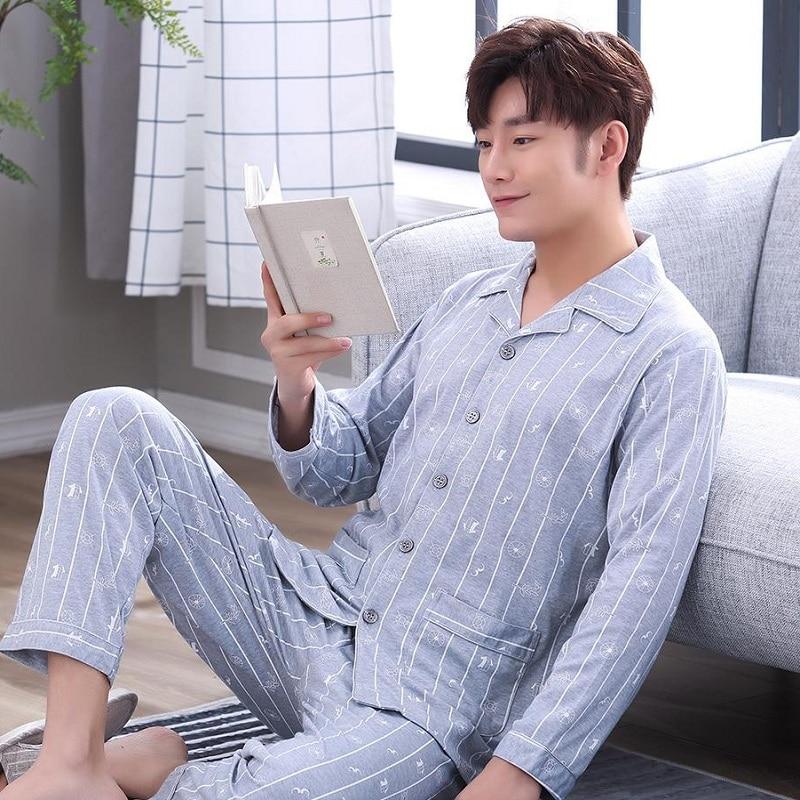 Pajama Sets 2019 Style Oversize 100 Kg Pyjamas Rus Liubit Pijama High end amp High prices Men 39 s Cotton Nightwear All Seasons S90 in Men 39 s Pajama Sets from Underwear amp Sleepwears