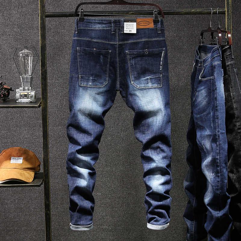 Men Jeans Homme Pants Biker Spijkerbroek Mannen Masculina Denim Overalls Ropa Hombre De Marca Hip Hop Narrowed Pant Man Jean