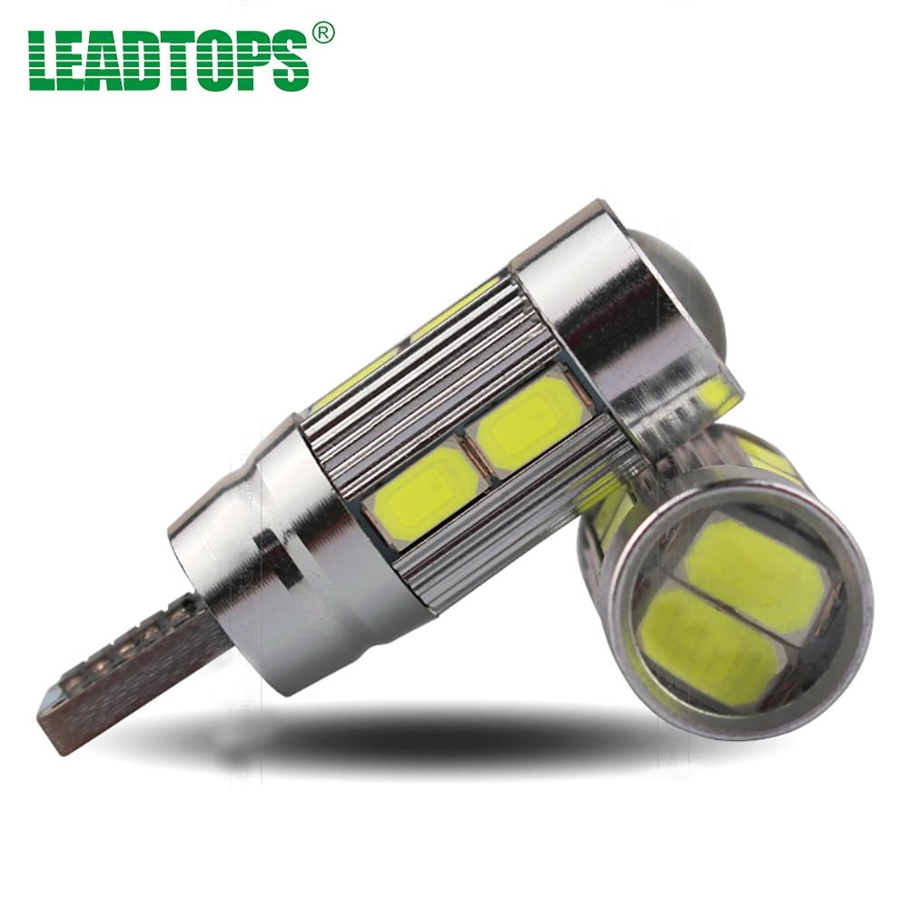 10 X T10 Car LED T10 W5W/194 10SMD 5730 Car Lights parking Fog light Auto No Error T10 LED Headlight Bulbs Xenon Signal White DE