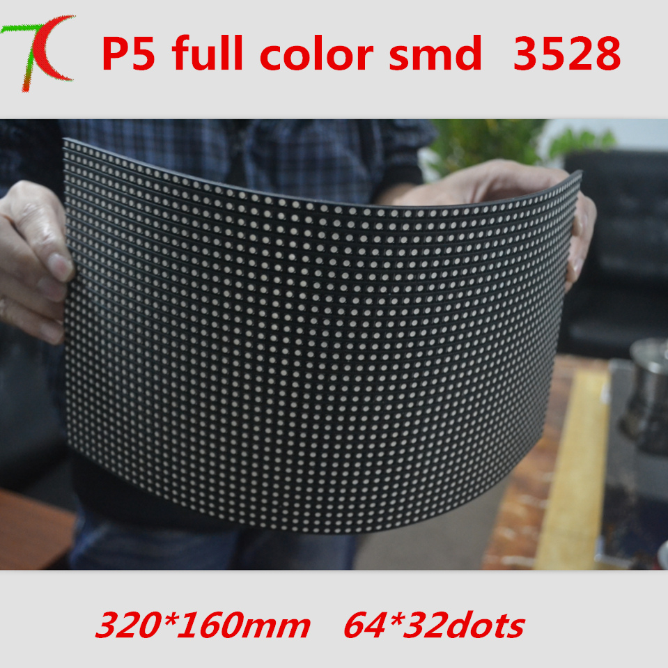 P5 Soft Module Indoor Full Color Pannel,  16S, 64*32 Pixels,320mm*160mm, 40000dots/m2