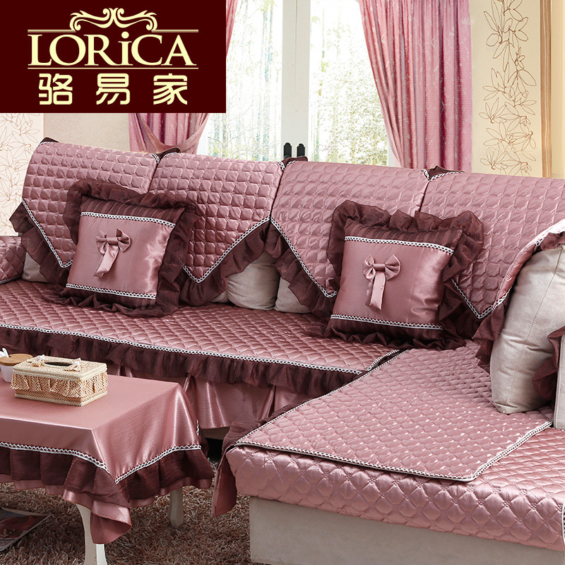 Sofa cover Luo 2016 Continental models wood sofa cushion leather
