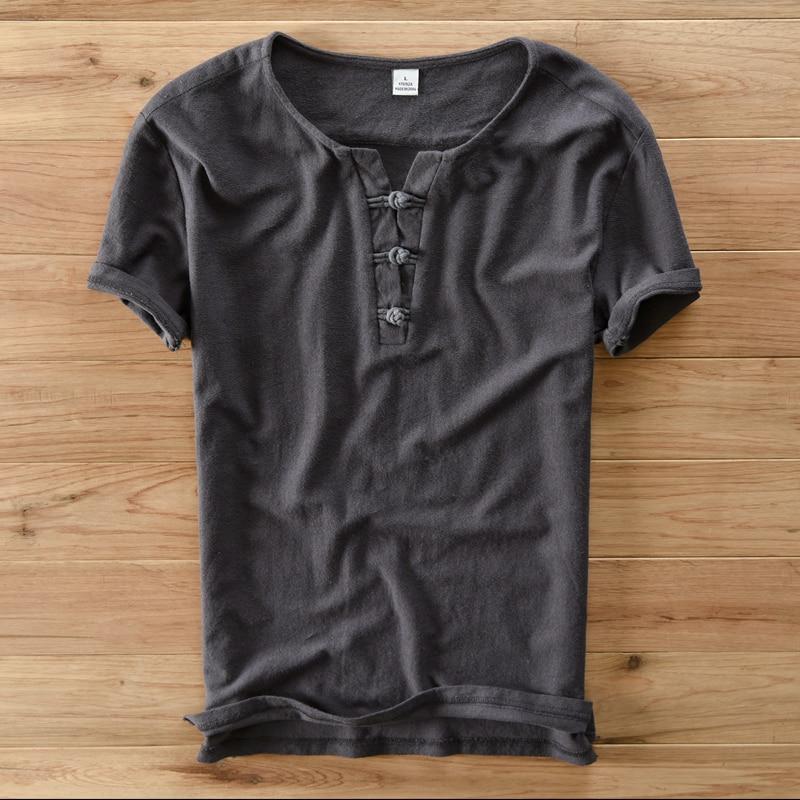 Italia t-shirt in cotone stile cinese uomini estate manica corta da - Abbigliamento da uomo