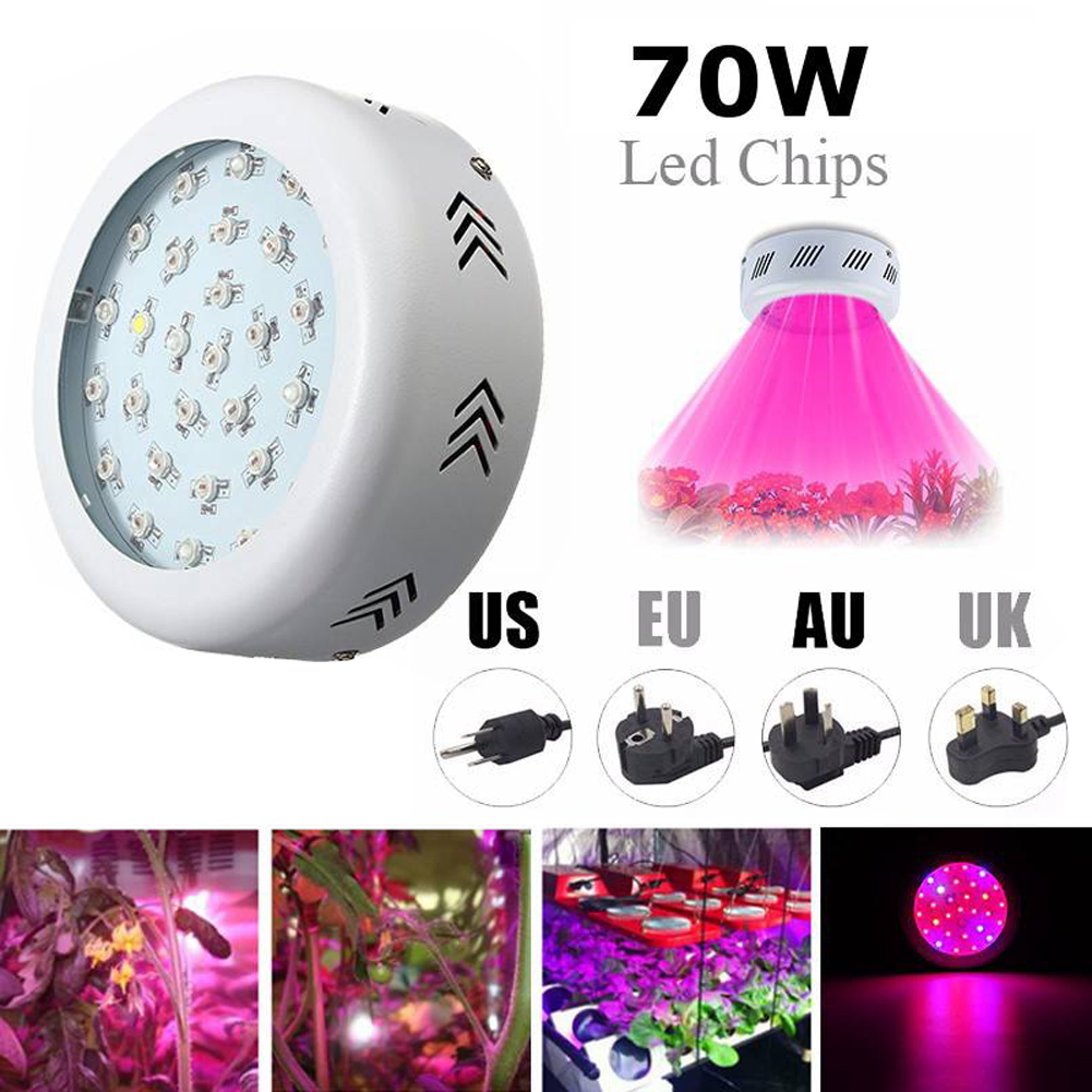 85V-265V 70W LED Grow Light with Hanger and Power Cord Full Spectrum Lamp Panel Indoor Vegetable Flower Plant Grow Light 4pcs lot 72leds 216w full spectrum led grow light ac85 265v ufo led plant lamp red blue uv ir indoor grow tent lighting