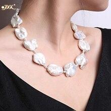 JYX изящное белое жемчужное ожерелье в стиле барокко с пресноводным культивированным жемчугом, вечерние ювелирные украшения, подарок AAA 16-20 дюймов, распродажа 328, жемчужное ожерелье