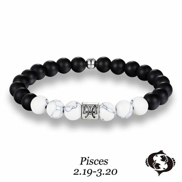 Classic 12 Constellation Beaded Bracelet Virgo Capricorn Aries Leo Beads Jewelry For Men And Women Best Birthday Gift
