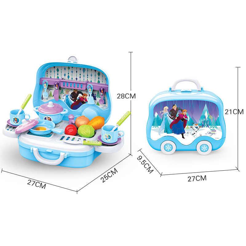 Disney Brinquedos Mala Ferramenta Cozinha Médica Caixa de Maquiagem Portátil 2019 Presentes De Aniversário Crianças Pretend Play Brinquedos de Meninos Meninas para As Crianças
