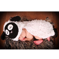 Cute Baby Hat Sheep Costume Set Photography Props Infant Knit Crochet Beanie Animal Hat Handmade LB