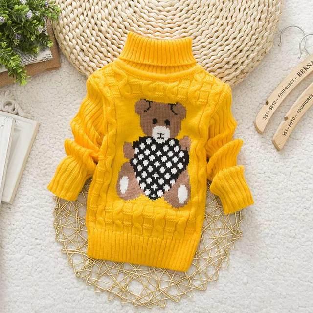 02c3fd7c374e Autumn Winter Baby Girls Boys Sweater Pullover Cartoon Cute Bear ...