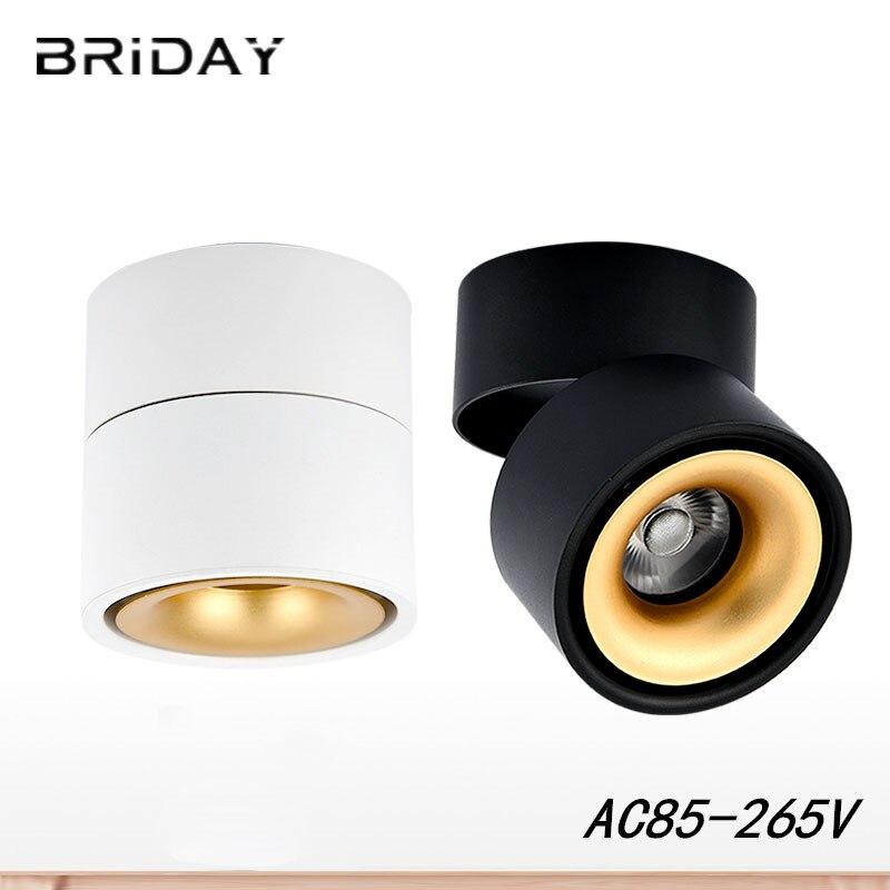 Surface Monté Mini Intégré COB LED Spots 5 W 7 W 12 W 360 degrés de rotation LED Plafond Lampe Spot lumière Downlight AC85-265V
