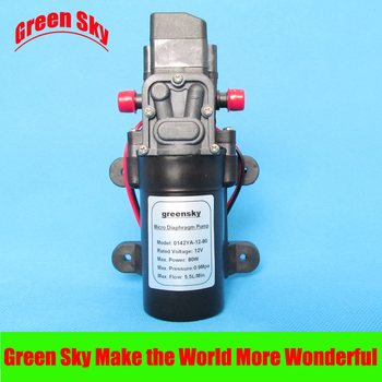 5.5L/Min. 8m range 80W high pressure 12v dc diaphragm pump