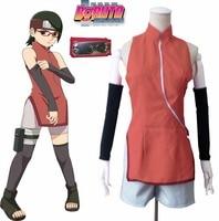 Boruto Naruto the Movie Uchiha Sarada Cosplay Costume