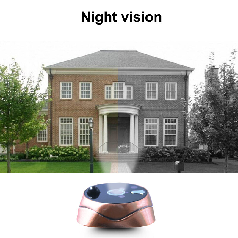 Saful new peephole camera door viewer with Multi languages HD 4 3 quot TFT LCD recordable wireless doorbell door camera Free shipping in Door Viewers from Home Improvement