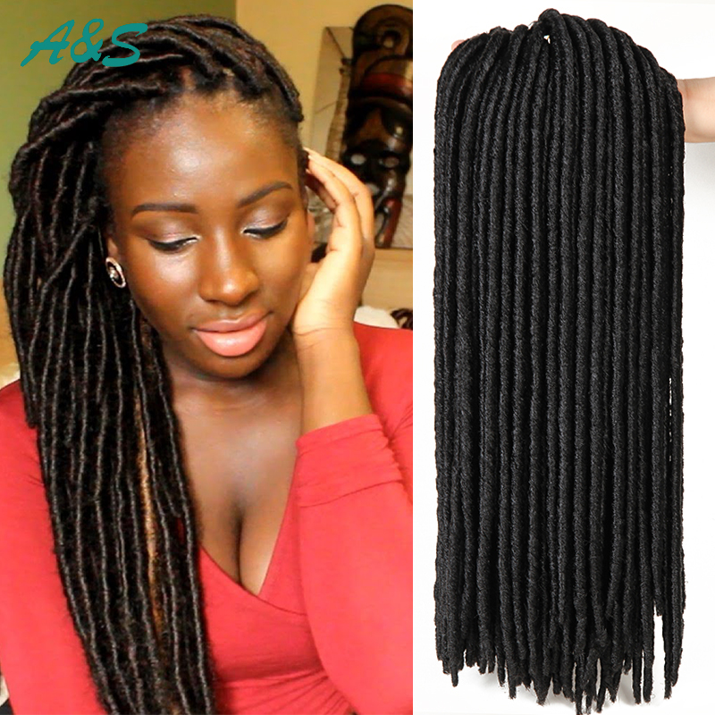 24roots pack crochet faux locs dreadlock extensions synthetic hair faux locs crochet hair - Crochet braids avec xpression ...
