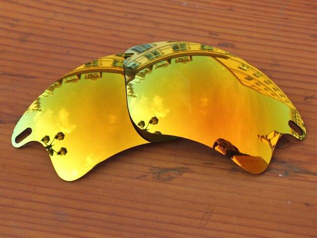 Policarbonato-Rojo Fuego Espejo Lentes De Repuesto Para Fast Jacket XL Marco de Gafas de sol 100% protección UVA y Uvb