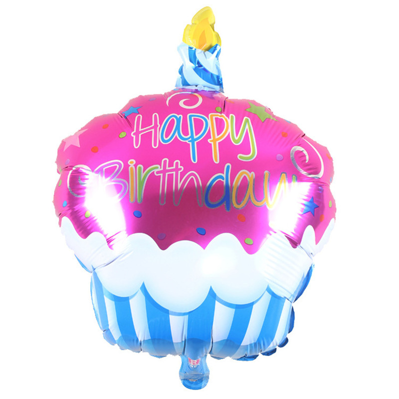 Birthday Candle cake balloon helium Foil Balloons Happy Birthday Party Decorations Kids birthday balloons Air Balls 68cm 1pc