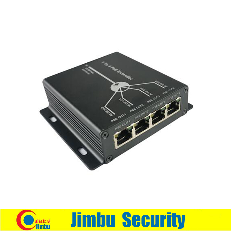 Mini POE Extender 4 Ports 10/100M 25.5W Extend 120 Meters IEEE802.3af POE Network Devices Plug-and-Play Cctv System