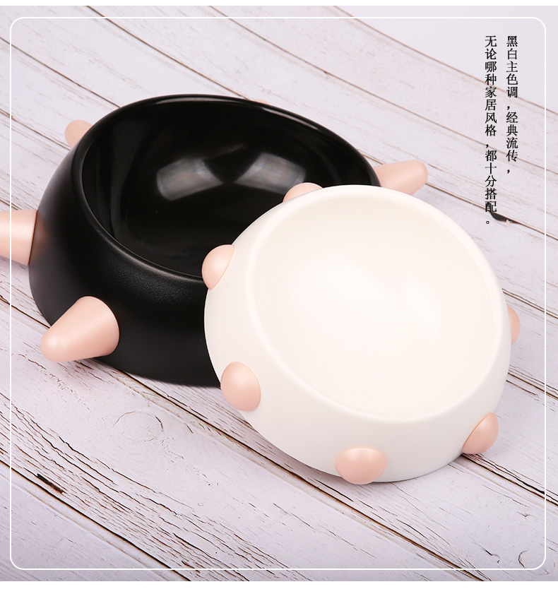 Japanese Dog Bowl Food Bowl with Protection Dog Food Bowl Cute Dog Bowl Dog Cat Food Bowl with Water Bottle Dog Bowls in Dog Feeding from Home Garden