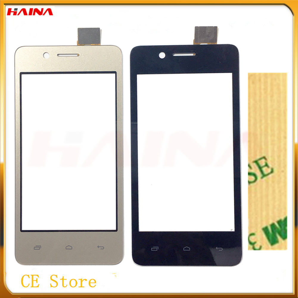 gold&black color touchscreen For <font><b>Micromax</b></font> Bolt <font><b>Q402</b></font> <font><b>Touch</b></font> Screen Front Glass Lens Panel Replacement with 10pcs/lot image