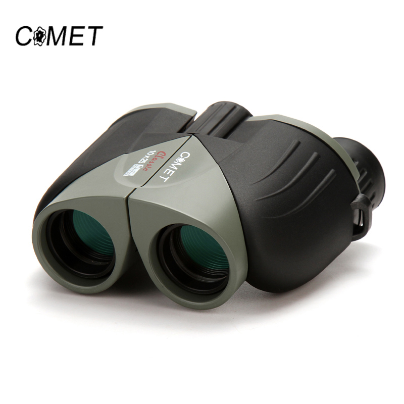 Brand New 10X25 HD Wide Vision 100% optisk kikkert Kompakt High Optical Lens Utendørs Turisme Camping Jakt Teleskop COMET