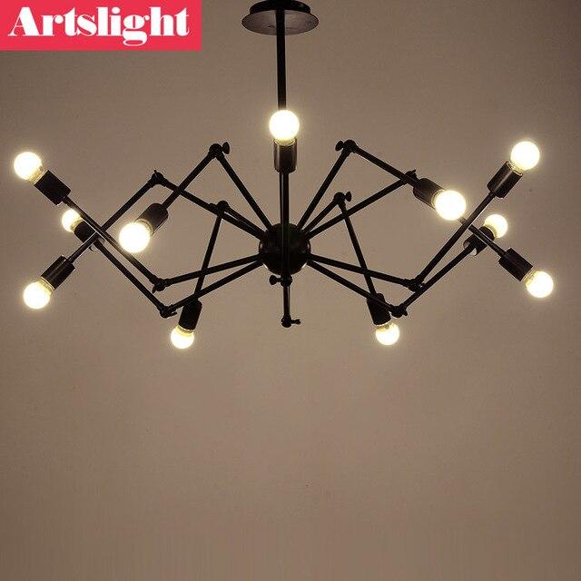 esilaite american iron loft restaurant retro rustic industrial lighting chandelier modern minimalist ideas