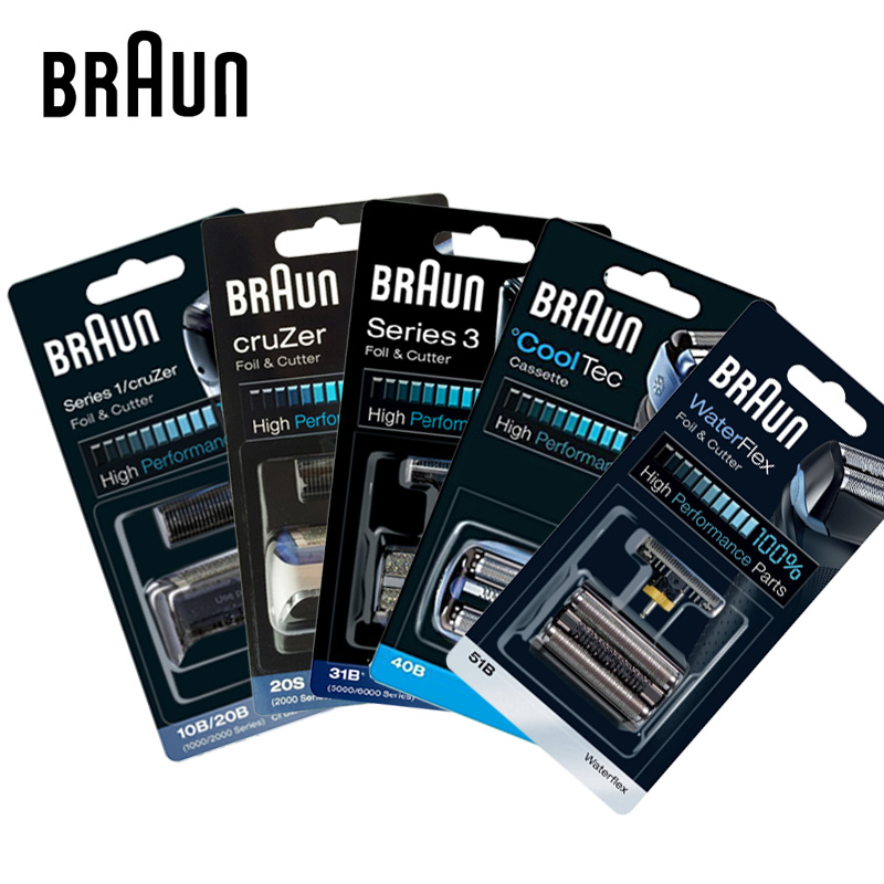 Braun Replacement Part Trimmer Head 5S 10B20B 11B 20S 21B 30B 31S Shaver Heads Accessories Foil Cutter For Braun Electric Shaver braun 20s