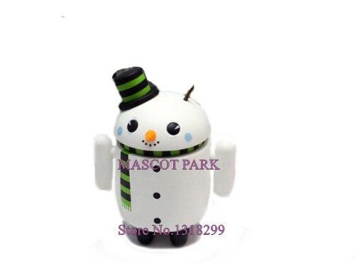 Personnalisé mignon Android bonhomme de neige Mascotte Costume adulte professionnel publicité Robot Android Mascotte déguisements Kits pour noël