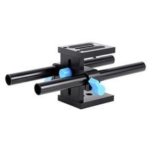 15mm Rail Rod Support System Aluminum Rail Rod Holder Advanced QR Baseplate Mount DSLR Camera Focus Rig Offset Riser 5Ds 6D 7