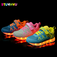 Shoes For Girls Glowing Sneakers With Luminous Sole USB Charge Luminous LED Colorful Lighted Sports Boys