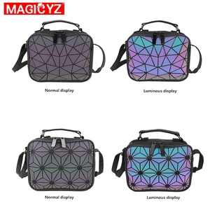 Image 2 - MAGICYZ Women Laser Luminous handbags Small Crossbody Bags for Women Shoulder bag Geometric Plaid Totes Ladies leather Purse