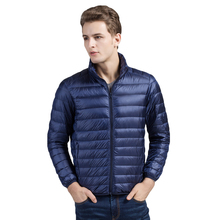 Brother Wang Brand Winter New Men'sDown Jacket Casual White Duck Down Light Down Men  Warm Coat male men clothes 2018