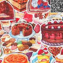 38 pcs Delicious cake  Sticker for Luggage Skateboard Phone Laptop Moto Bicycle Wall Guitar/Eason Stickers/DIY Scrapbooking 36 pcs cartoon cute bear sticker for luggage skateboard phone laptop moto bicycle wall guitar stickers diy scrapbooking