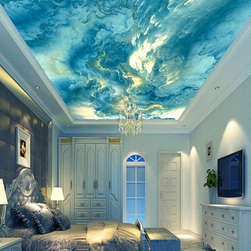 Персонализированная 3D потолочная роспись на заказ, абстрактное искусство, цветные облака, фотообои, отель, ресторан, галерея, креативные Френки