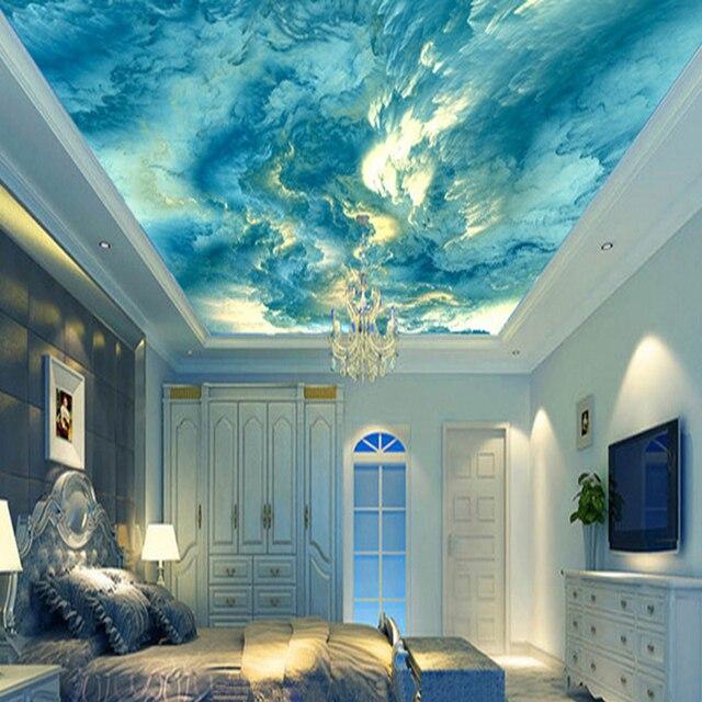 personnalis personnalisation 3d plafond murale abstraite art couleur nuages photo papier peint htel restaurant galerie creative