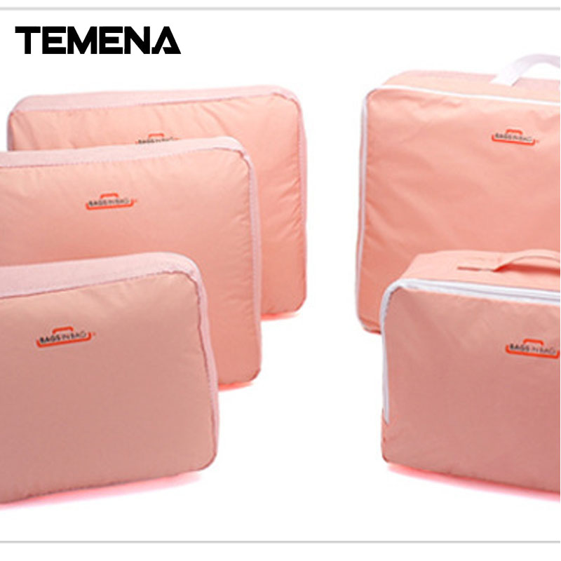 5psc/set t Men and Women Travel  Bag  Multi-Functional Portable Travel Luggage Suitcase Clothes Underwear Packing ATB910