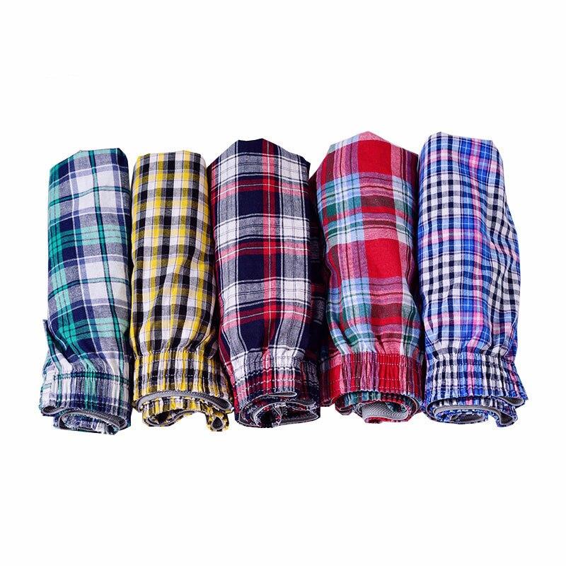 5XL 6XL Men Loose Boxers Hot Underwear Man Boxer Shorts Cotton Breathable Large Sizes Arrow Pants Mens Home Shorts 5pcs/lots