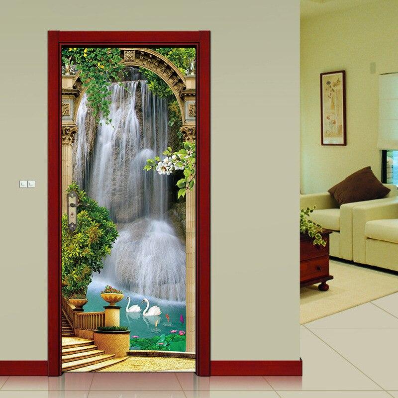 Aliexpress.com : Buy Creative DIY 3D Door Stickers Palace