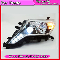 Car Styling for Toyota Prado Headlights LED Headlight ANGEL EYES DRL Bi Xenon Lens HID Automobile Accessories