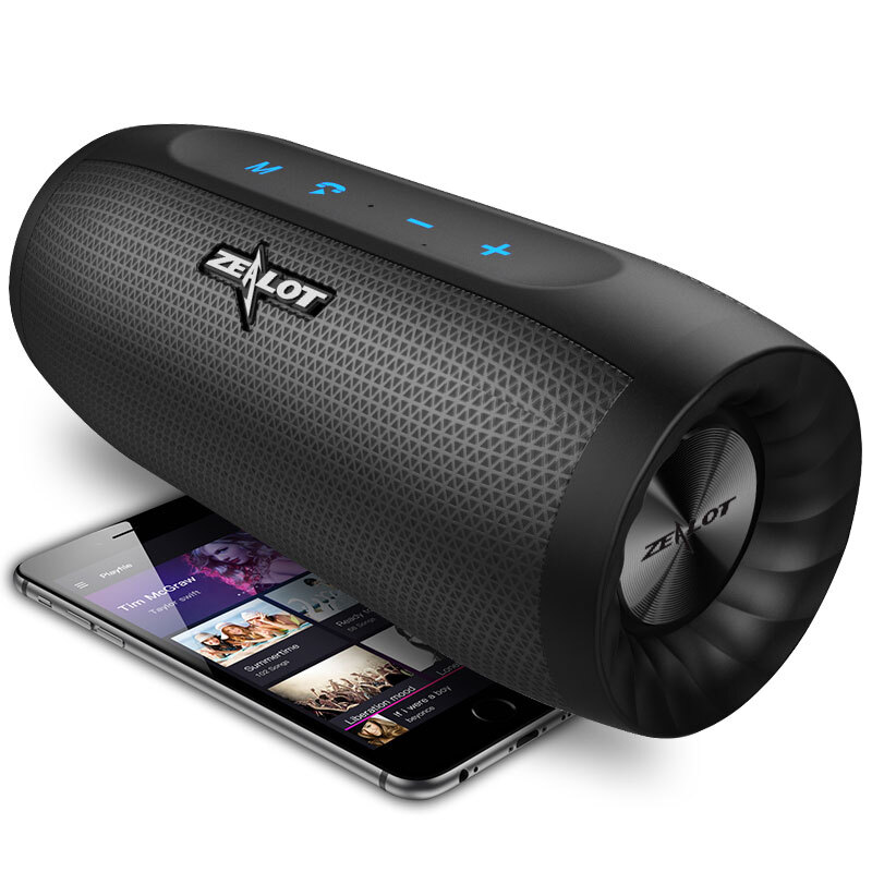ZEALOT S16 Portable Bluetooth Speaker Wireless Subwoofer Column 3D Stereo Sound Support TF Card AUX Built-in Microphone aimitek a8 mini wireless bluetooth speaker portable touch screen stereo subwoofer mp3 player with microphone tf card slot aux in