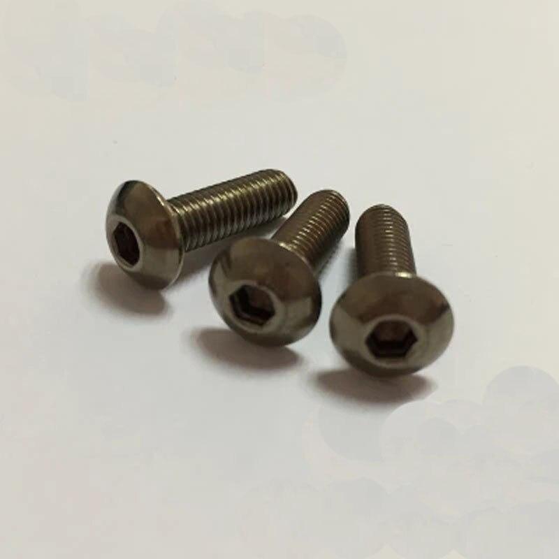 M3 TA2 Allen titanium screw Semicircular head hexagon socket head bolt 3mm--14mm