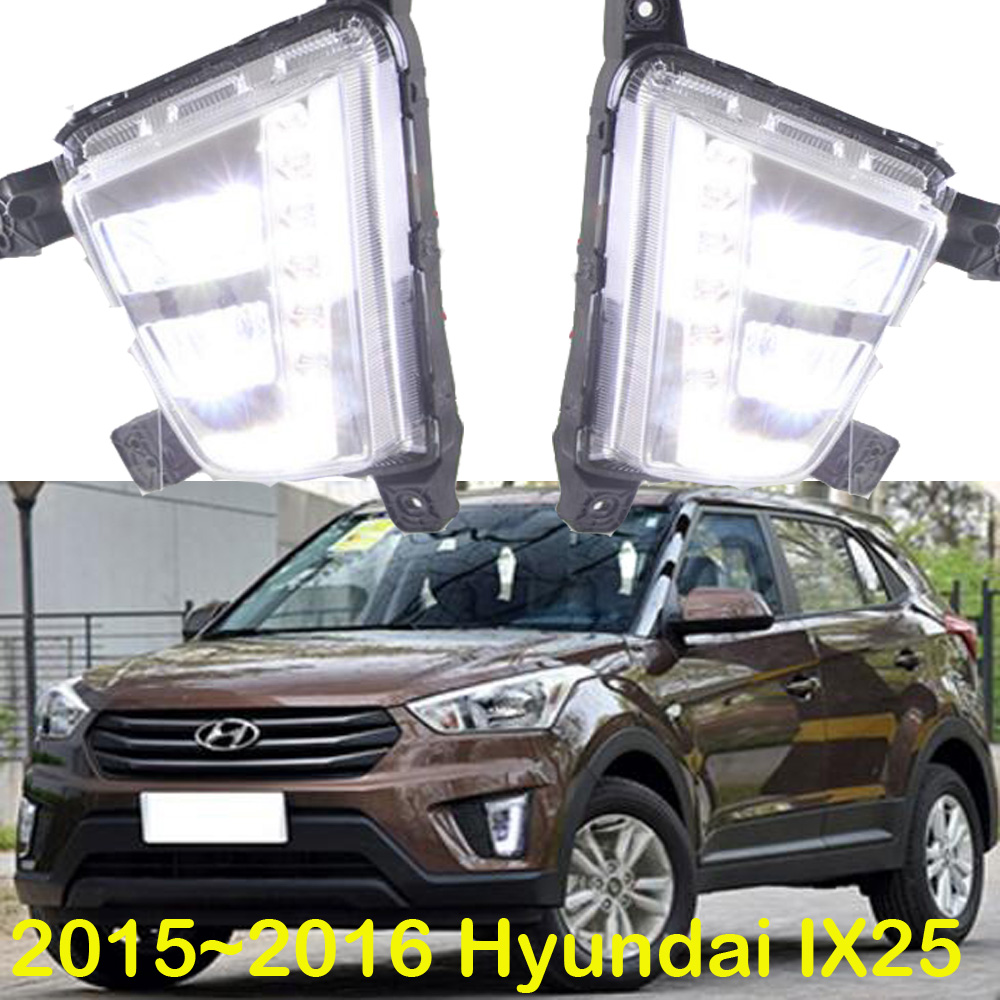 LED 2015 2016 Hyundal Creta IX25 daytime Light IX25 fog light IX25 headlight accent Elantra Genesis