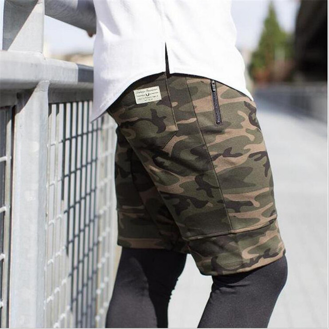 Cargo Men Shorts Casual Camouflage Summer Short Pants Military Camou New Clothing Shorts Homme Cotton Cargo Shorts Men No Belt