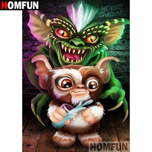 """HOMFUN 5D DIY Diamond Painting Full Square/Round Drill """"Big ear monkey"""" 3D Embroidery Cross Stitch gift Home Decor A00340"""