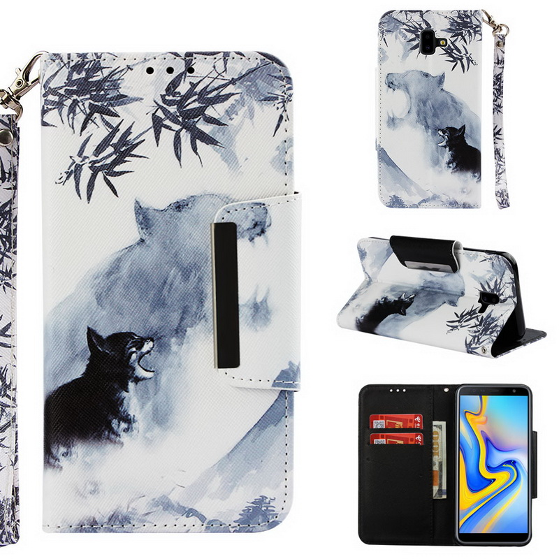 Capa For Samsung Galaxy A6 A7 A8 Plus j8 2018 j4 Plus j6 Premium A5 2017 Animal Wallet Flip Cover Case For Samsung A9 Star Lite