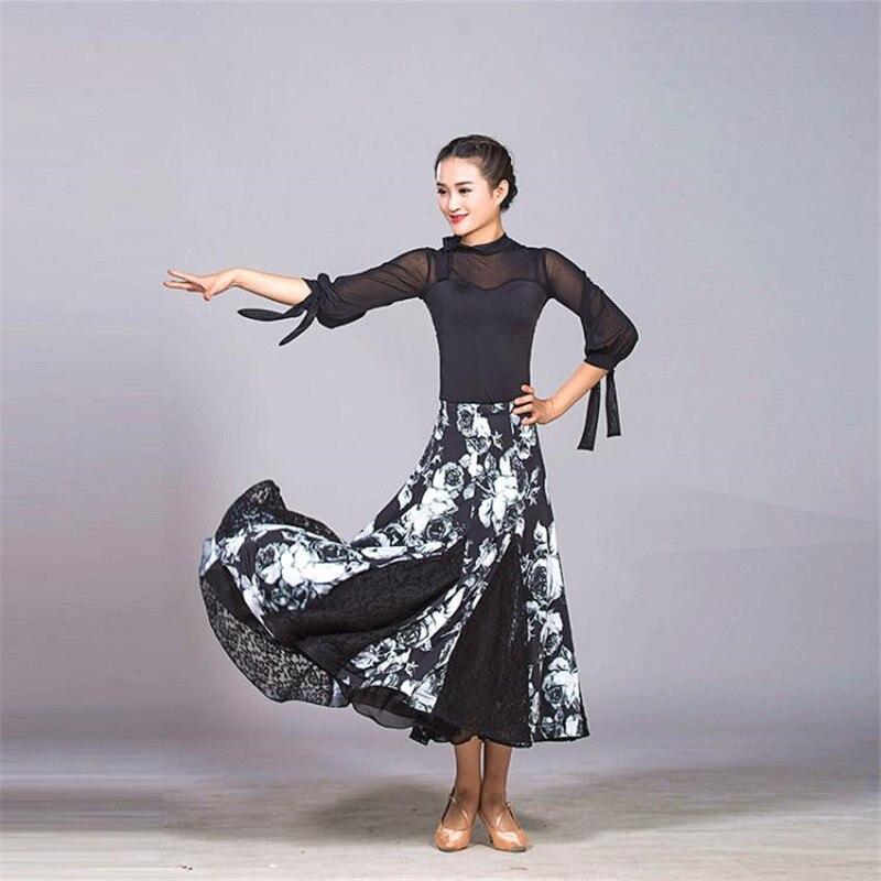 New hem dansa ballroom dance skirts for women ballroom skirt long waltz standard ballroom skirts women