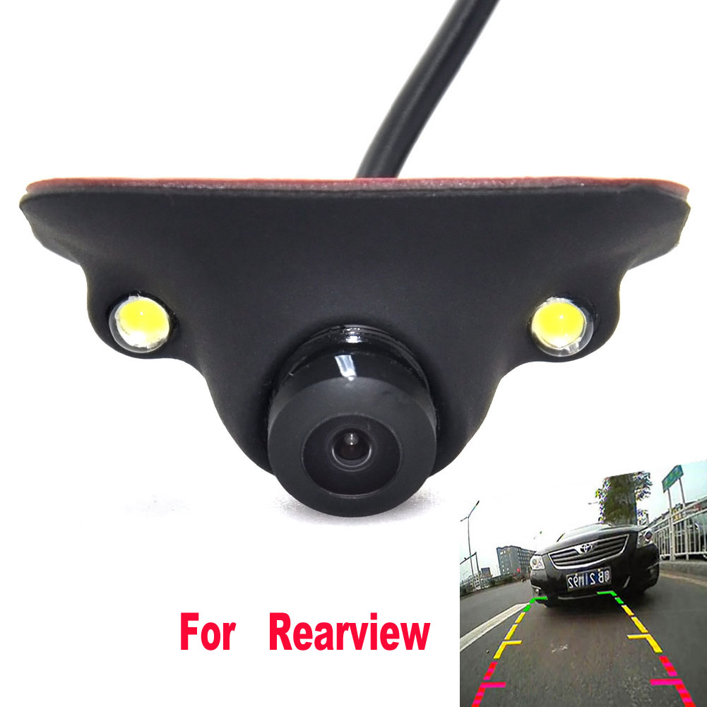 Mini CCD HD Night Vision 360 Degree Car Rear View Camera Front Camera Front View Side Reversing Backup Camera 2 LED micro ccd camera mini camera work with dvr 90 degree view angle