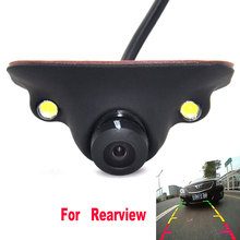 Mini CCD HD Night Vision 360 Degree Car Rear View Camera Front Camera Front View Side Reversing Backup Camera 2 LED(China)