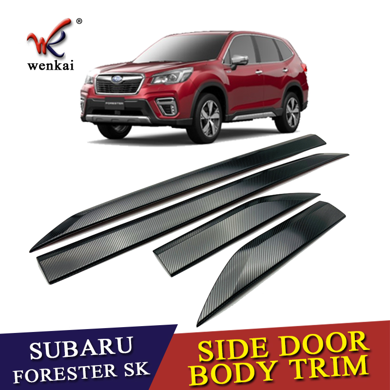 For Subaru Forester SK 2018 2019 Stainless Steel Car Side Door Body Strip Moulding Cover Trim Auto Exterior Accessories 4pcs