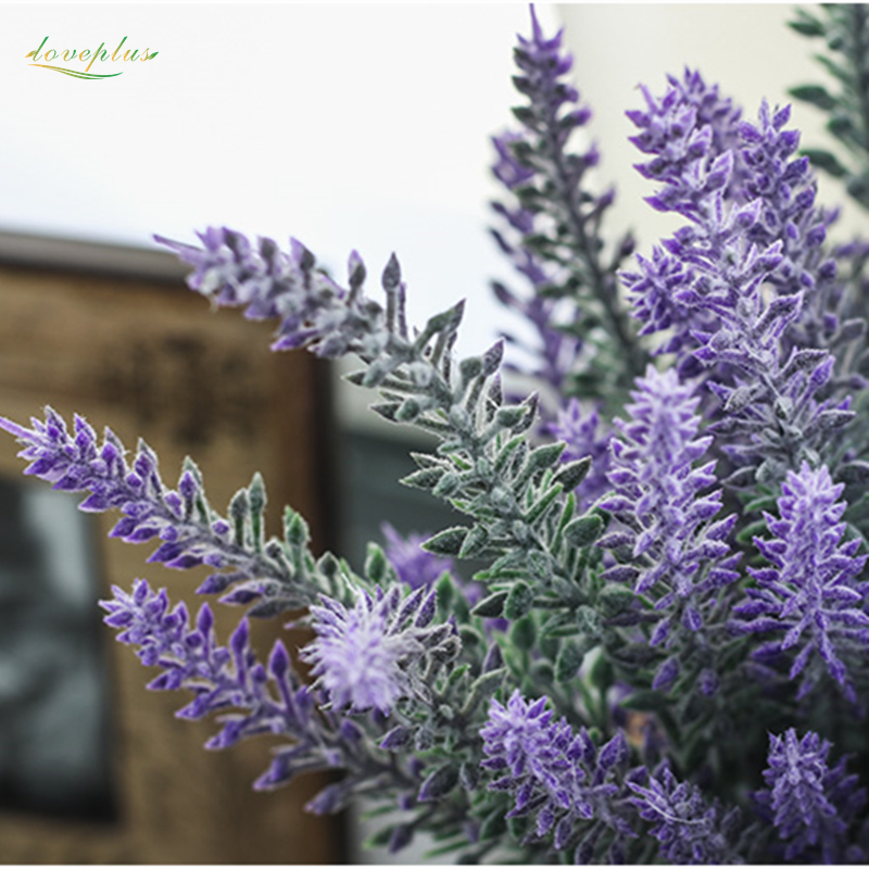Zinmol Romantic Provence Lavender Flower Decoration Flower Silk Artificial Flower Grain Simulation of Aquatic Plants for Home