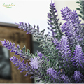 Zinmol Romantic Provence Lavender Flower Decoration Flower Silk Artificial Flower Grain Simulation of Aquatic Plants for Home