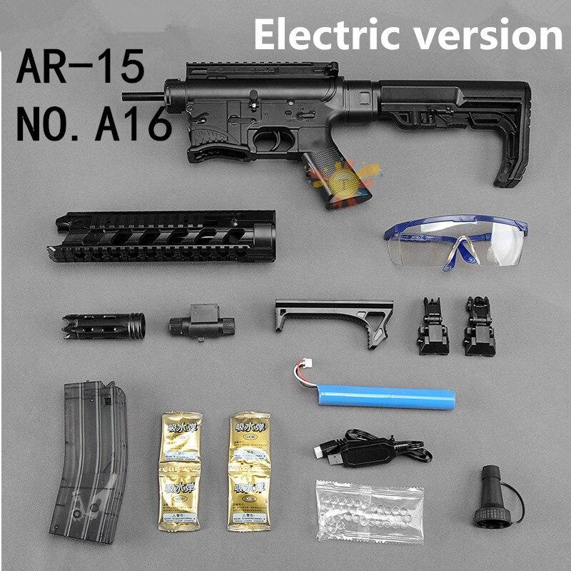 AR15 pistolet à eau Requin Bouche Sous La Fourniture M4 Électrique pistolet à eau Enfants pistolet jouet de Garçon CS jouet fusil